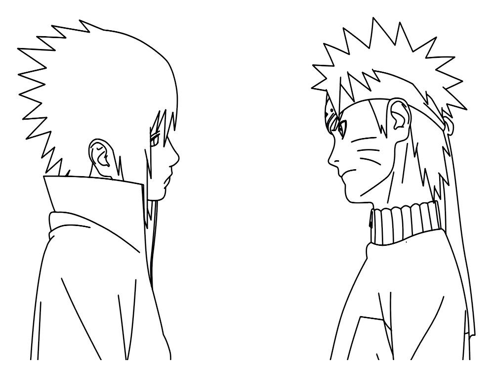 Gratuitos dibujos para colorear – Naruto, descargar e imprimir
