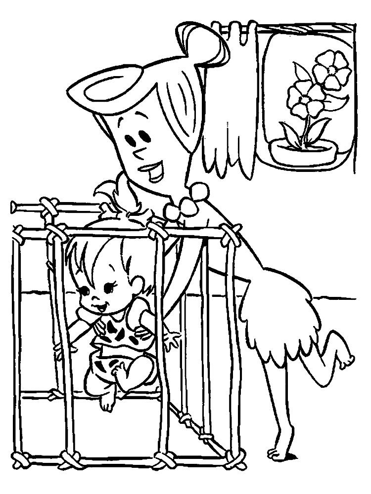 Los Picapiedra – descargar gratis dibujos para colorear.