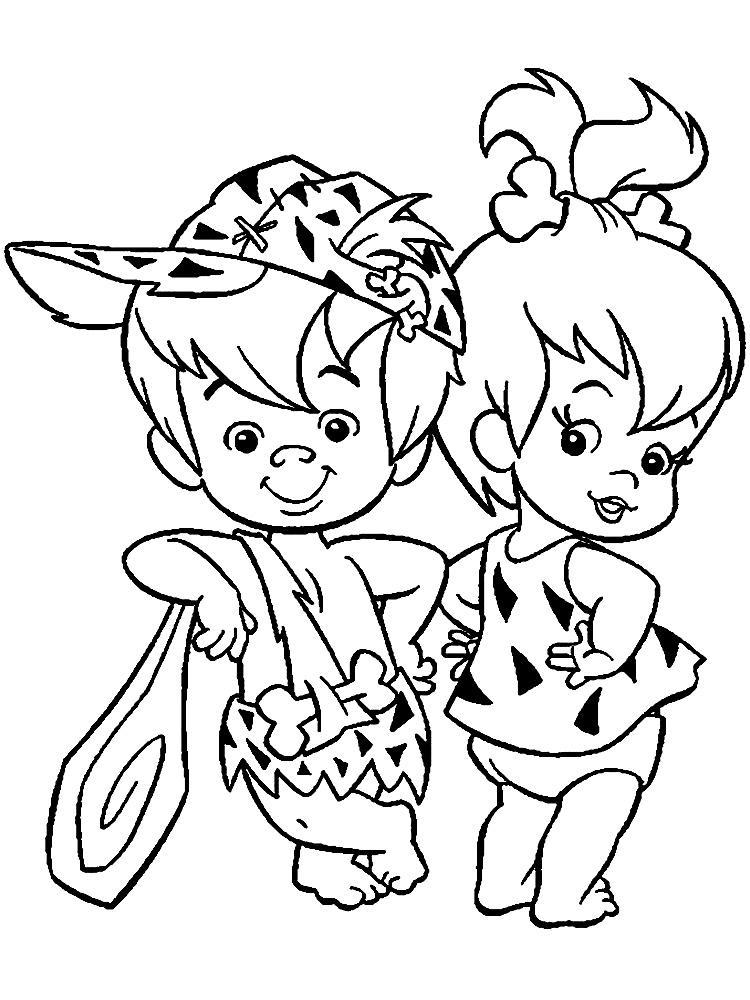 Los Picapiedra – dibujos animados infantiles, para colorear