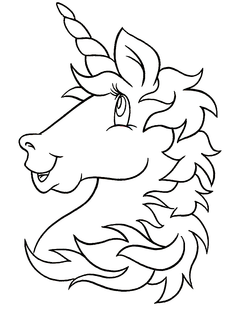 Dibujos para colorear – unicornio, para niñas y niños