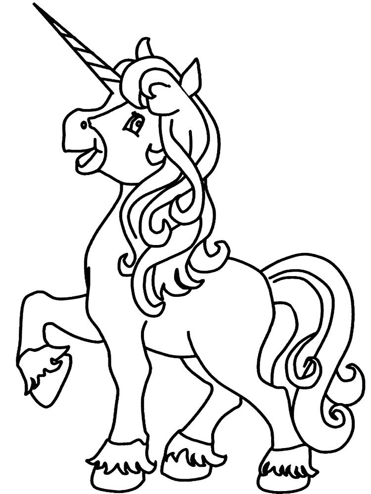 Unicornio – dibujos infantiles para colorear, para niños y niñas