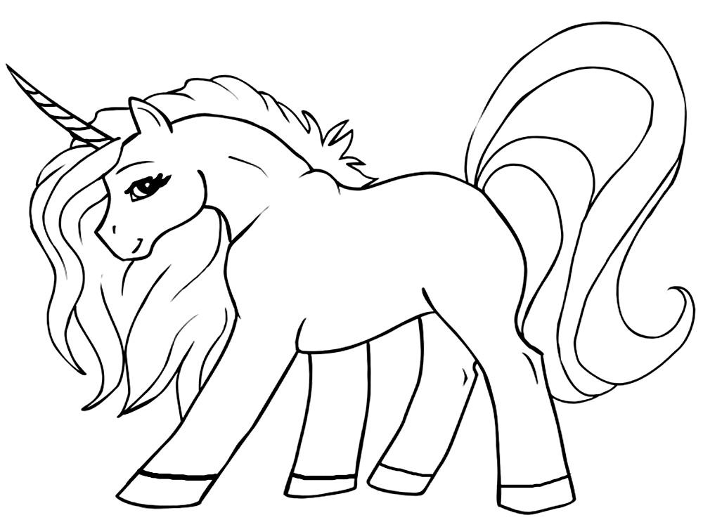 Unicornio Dibujos Infantiles Para Colorear
