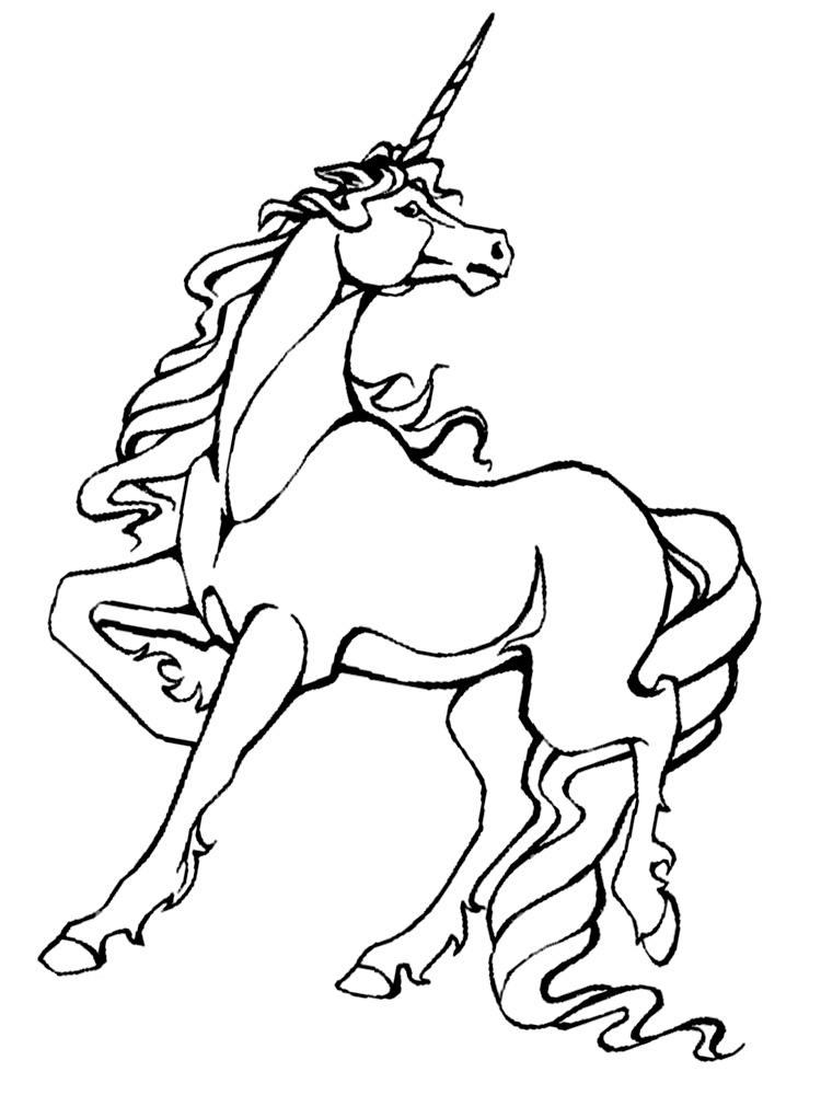 Dibujos para colorear – unicornio, imprimir gratis