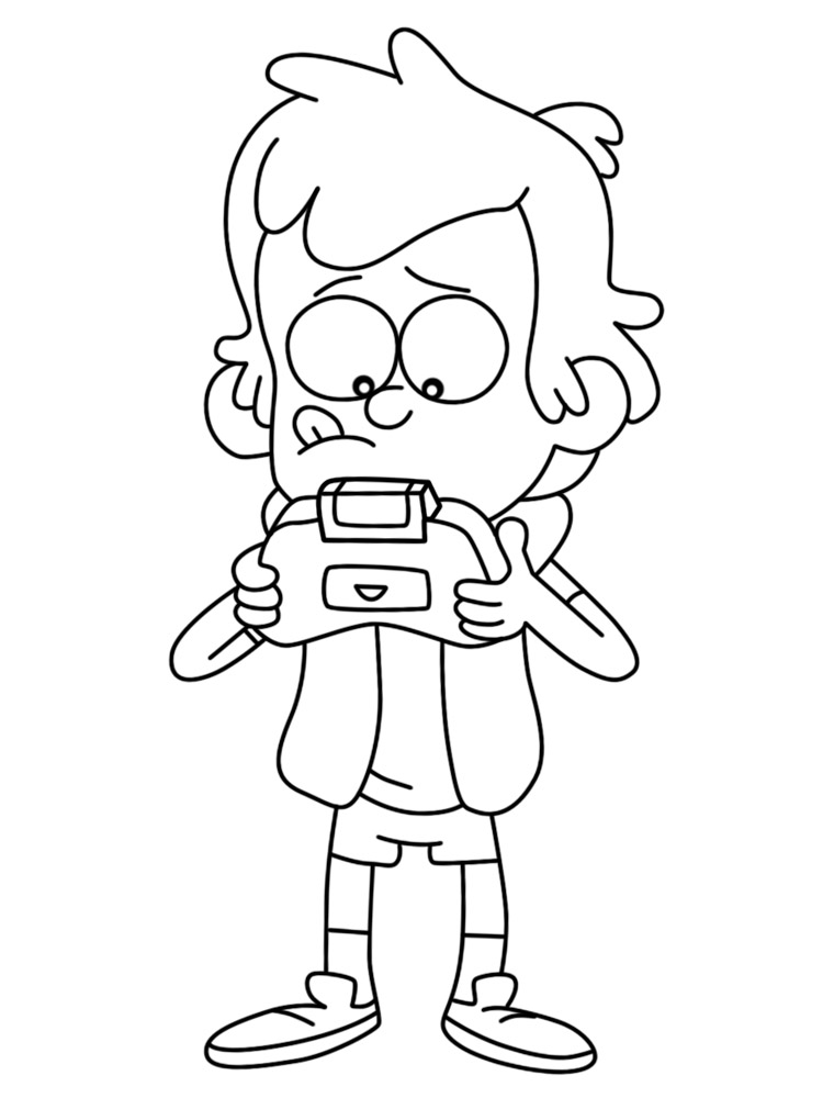 Gravity Falls – descargar gratis dibujos para colorear.