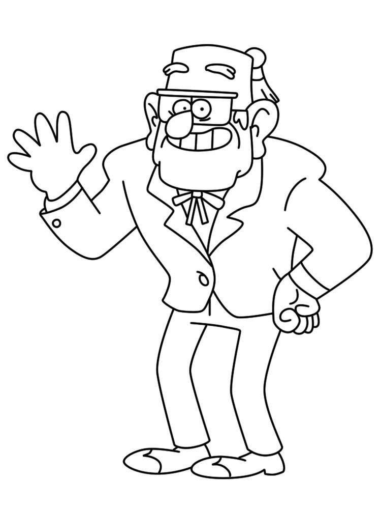 Dibujos Para Colorear Gravity Falls Para Un Desarrollo Infantil