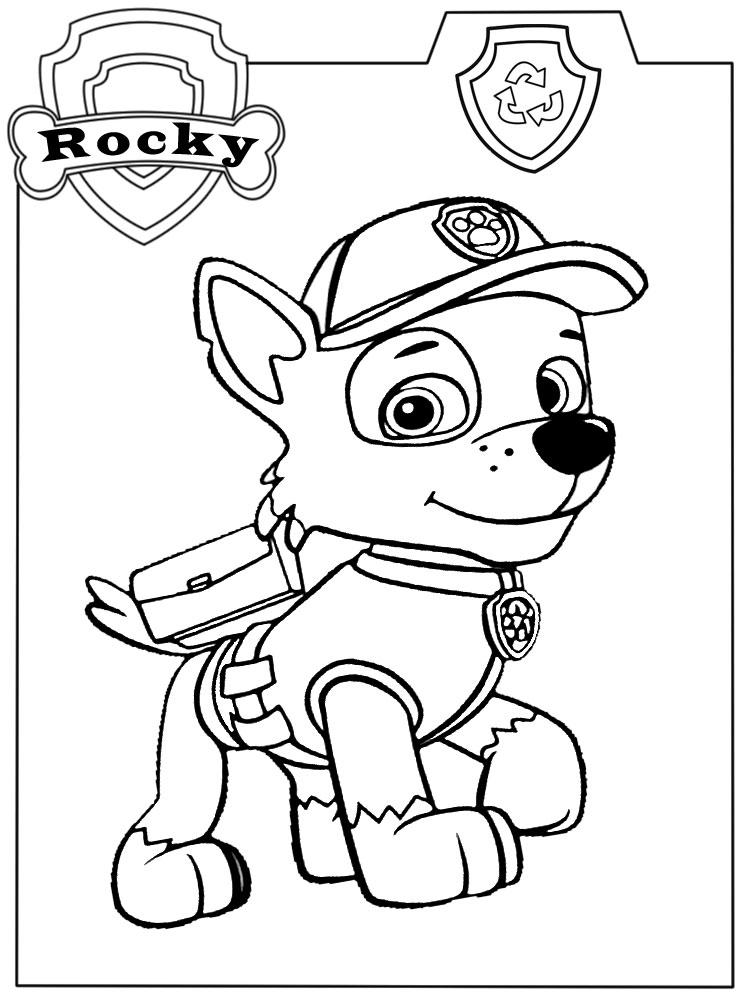 Descargar gratis dibujos para colorear – PAW Patrol.