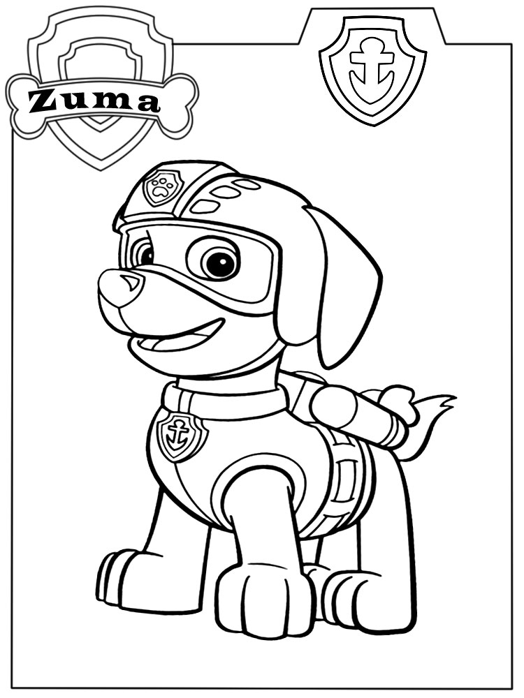 Dibujos Para Colorear Paw Patrol Para Ninos