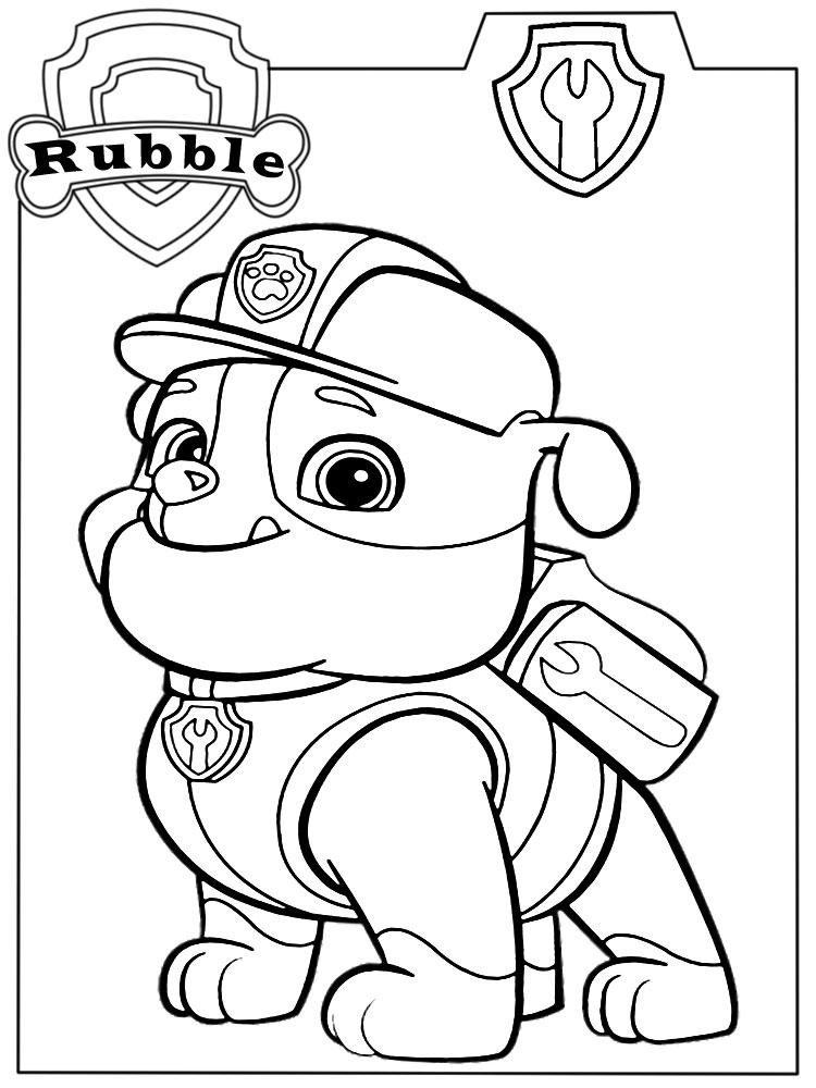 Descargamos dibujos para colorear – PAW Patrol.