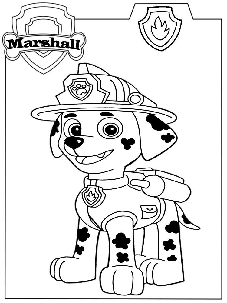 Dibujos Infantiles Para Colorear Paw Patrol Para Desarrollar