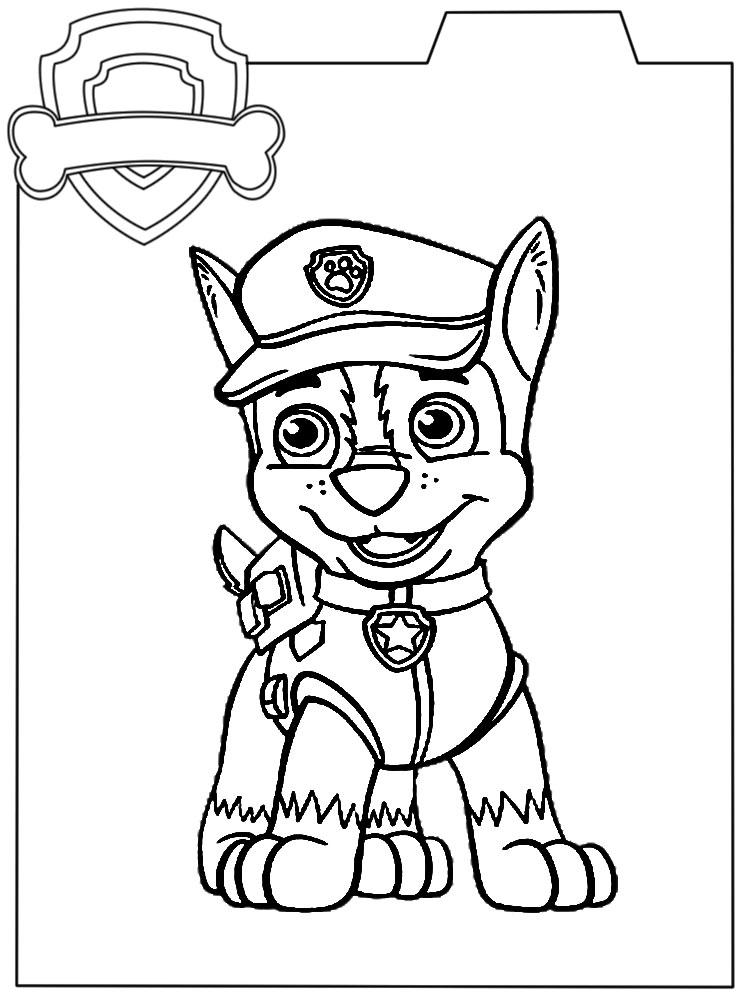 Dibujo Para Colorear Paw Patrol