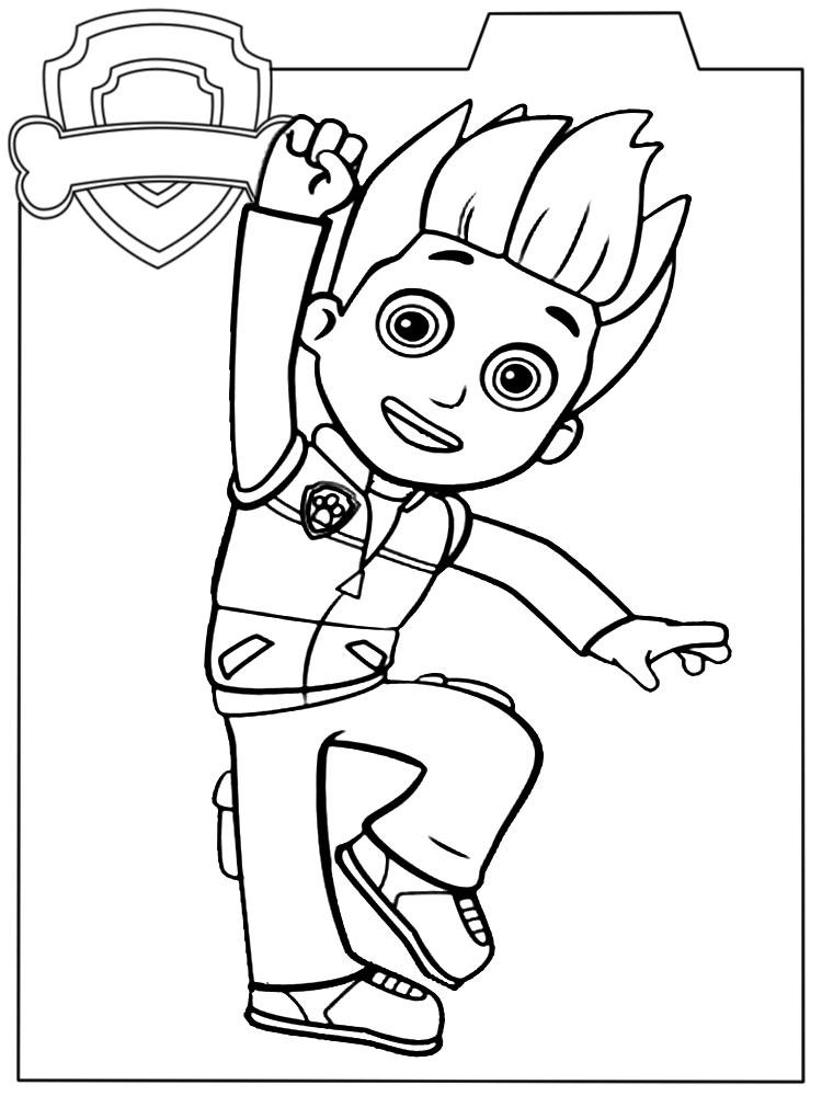 Paw Patrol Dibujos Infantiles Para Colorear Para Niños Y