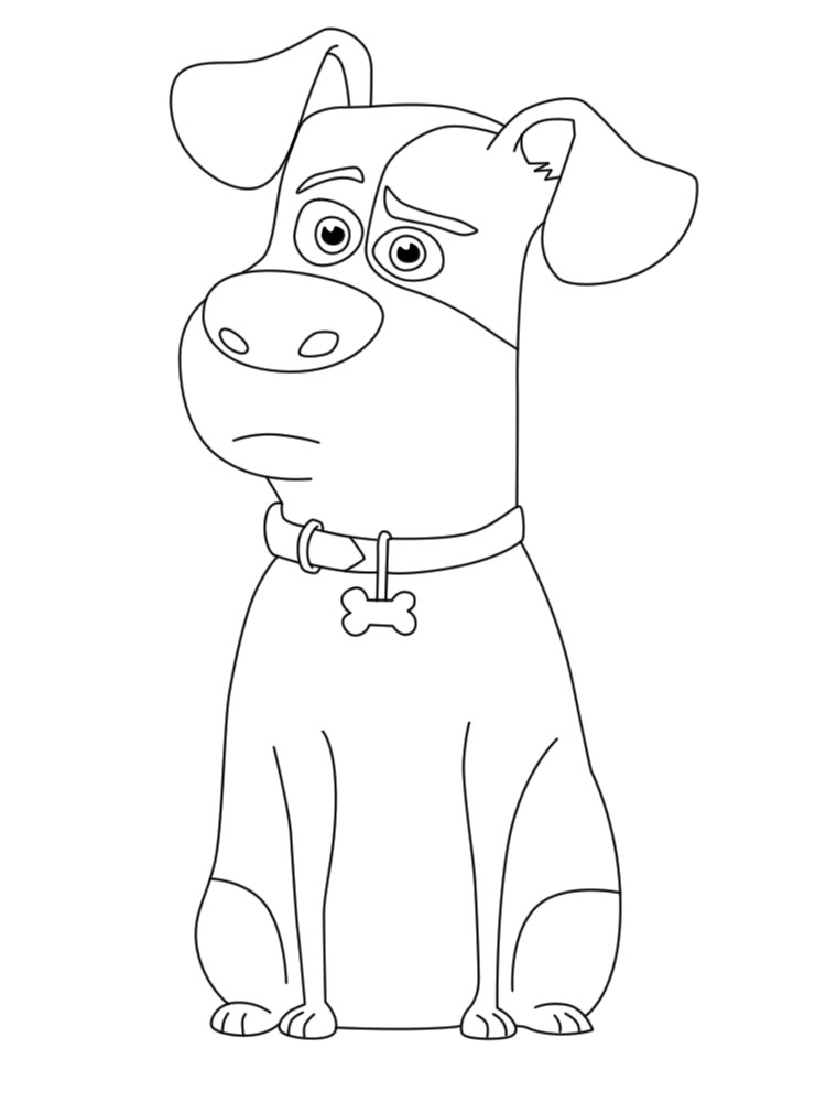 Max Pets Coloring Pages